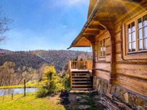 Leśne uroczysko domek bieszczady